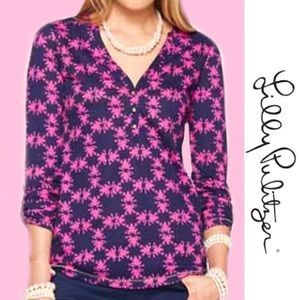 """LILY PULITZER """"Get Hoppy"""" Janelle Top Small"""